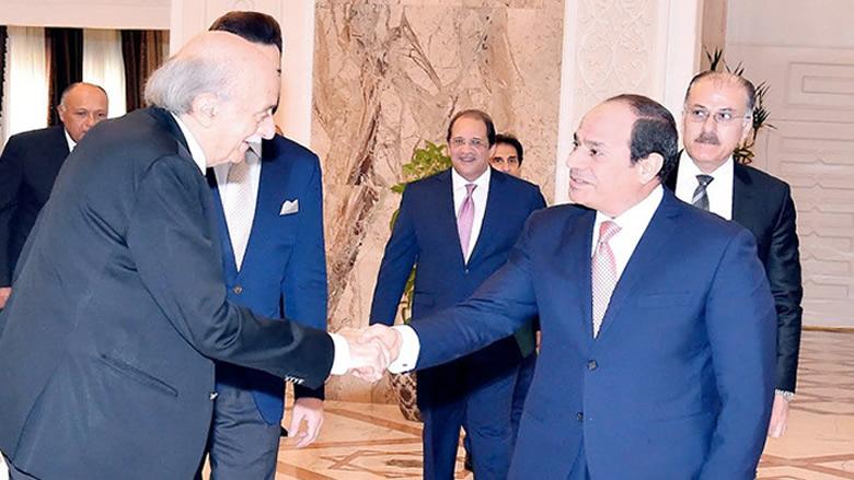 جنبلاط يلتقي السيسي في القاهرة وتأكيد على عمق العلاقات الثنائية