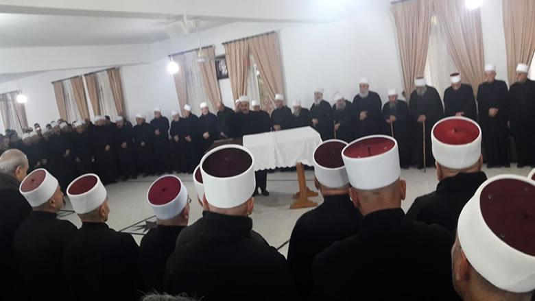 وداع حاشد للشيخ خالد حصن الدين في بلدة المختارة