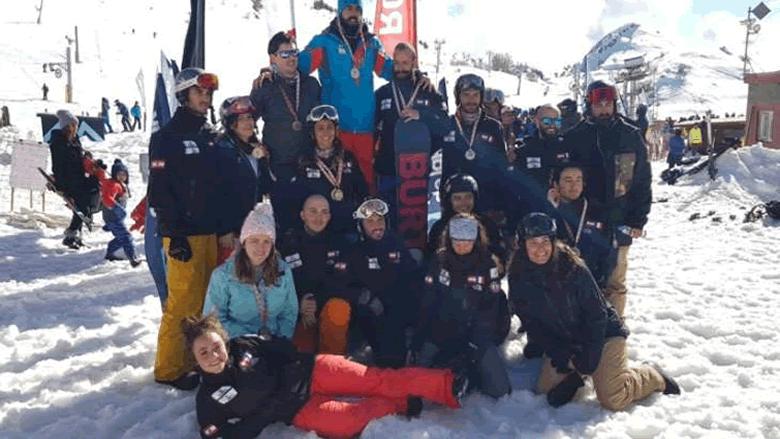 نتائج سباقات بطولة لبنان في السنوبورد للتزلج