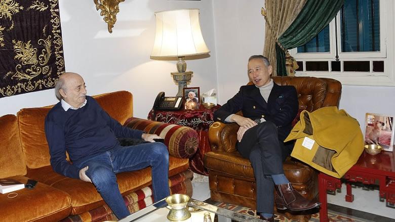 جنبلاط بحث التطورات مع السفير الياباني