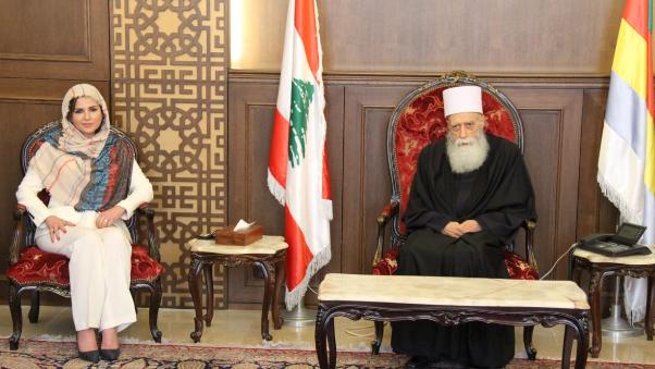 """شيخ العقل التقى وزيرة الاعلام ووفد """"متحدون"""""""