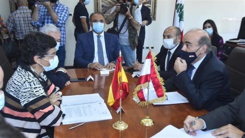 وهبه التقى الوزيرة الإسبانية.. وغونزاليس لايا: لبنان يحتاج إلى الإستقرار