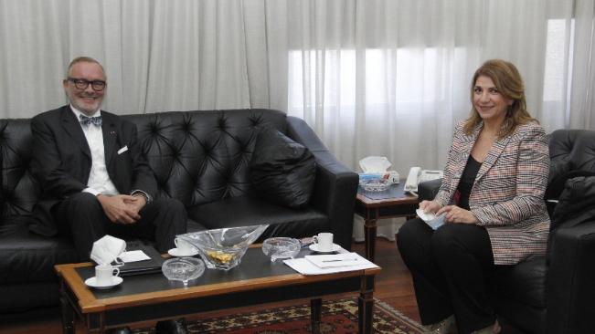 نجم بحثت مع سفيري اليابان وبلجيكا في التعاون الثنائي