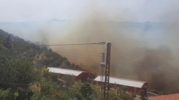 حريق في بلدة خزيز في الزهراني والأهالي يناشدون الدفاع المدني لإخماده
