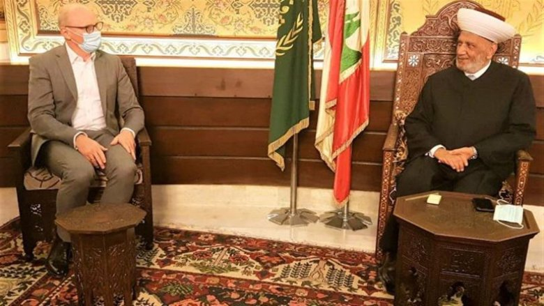 المفتي دريان بحث وسفير ألمانيا في الوضع اللبناني وتعزيز العلاقات