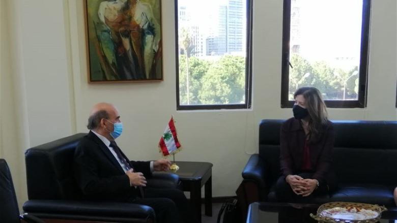 وهبه إستقبل شيا وجرى البحث في إجراءات الإدارة الأميركية بحق بعض اللبنانيين
