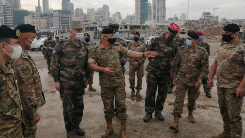 رئيس أركان الجيوش الفرنسية تفقّد مرفأ بيروت