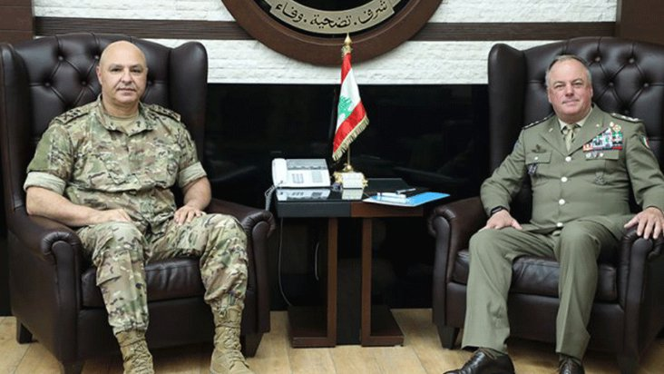 قائد الجيش بحث وقائد قوات الأمم المتحدة أوضاع المنطقة الحدودية