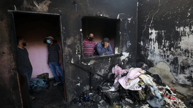 إندلاع حريق داخل منزل في بقرصونا