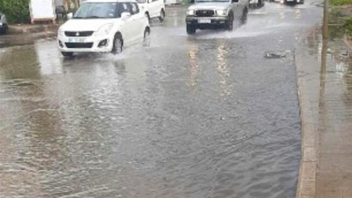 تجمع للمياه في شوارع بيروت