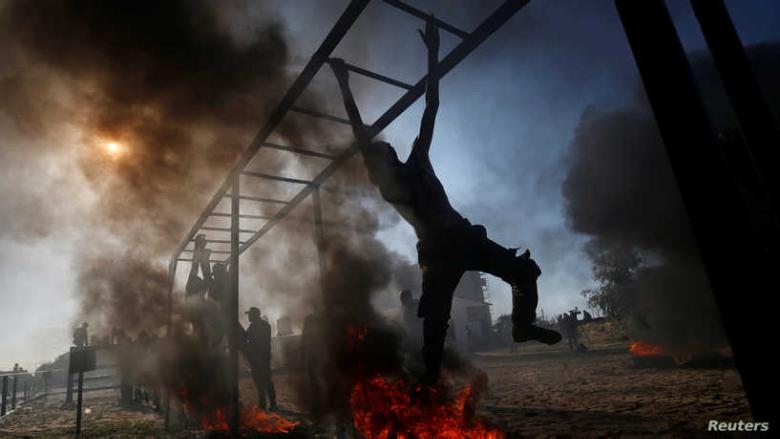"""""""الأولى من نوعها"""".. مناورات عسكرية مشتركة في غزّة"""