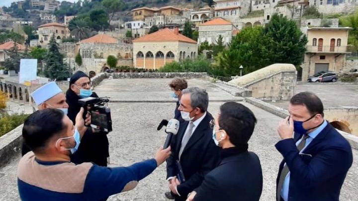 جولة لوفد الإتحاد الأوروبي في الشوف
