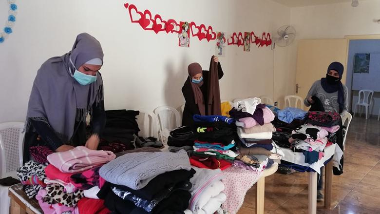"""""""النسائي التقدمي – الشمال"""": مستمرات على خط المساعدات الإجتماعية للناس"""