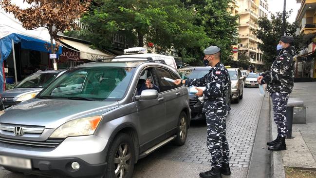 قوى الأمن وزعت كمامات على المواطنين في كافة المناطق