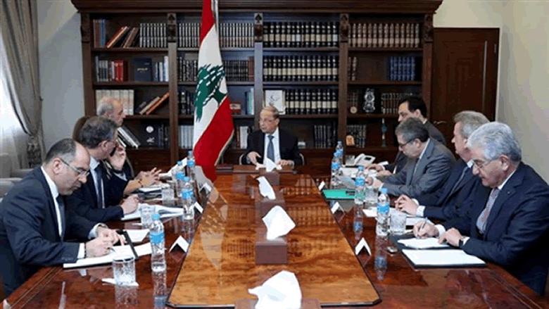 """الاجتماع المالي في بعبدا بحث في خيارات """"اليوروبوندز"""".. ومجلس الوزراء يشكل لجنة"""