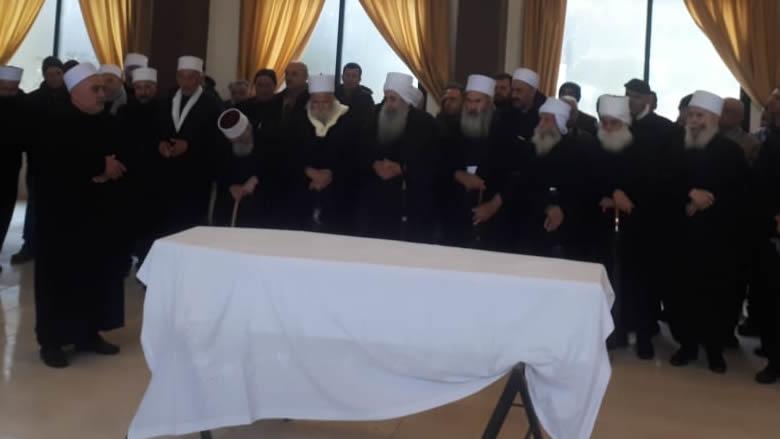تشييع الشيخ الأحمدية في شارون بحضور ممثل جنبلاط
