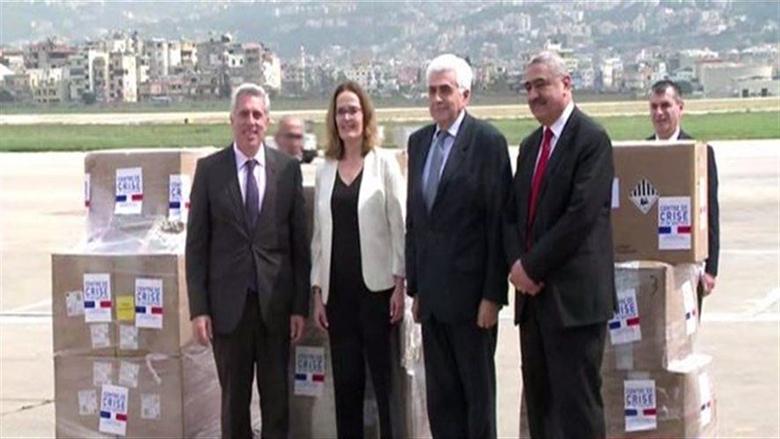 لبنان يستلم مساعدات طبية من فرنسا لمواجهة فيروس كورونا