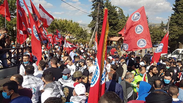"""مسيرة لـ""""الشباب التقدمي"""" - البقاع الجنوبي بوجه الغلاء المعيشي والسياسات الاقتصادية"""