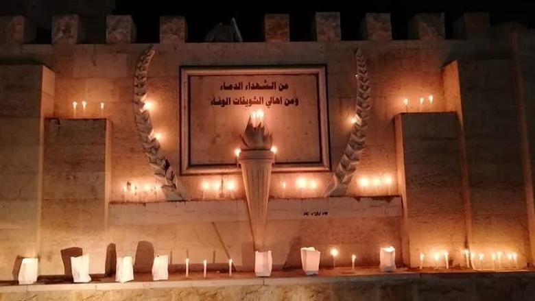 """""""التقدّمي"""" - الشويفات يحيي ذكرى شهداء أيار بإضاءة الشموع"""