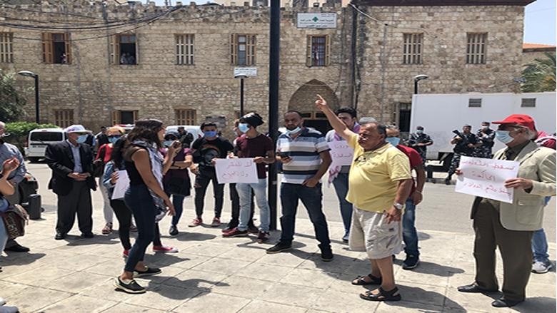 ناشطو حراك صور نفذوا اعتصاما امام السرايا الحكومية