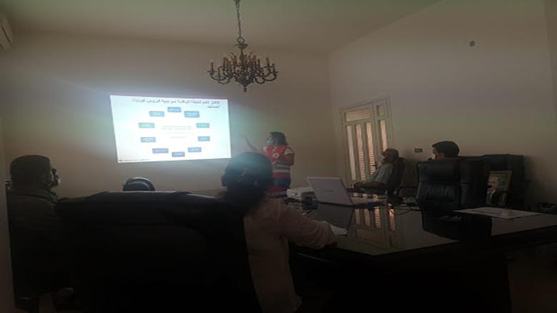 ورشة عمل في بلدية شارون عاليه حول ادارة خلية ازمة انتشار الوباء وكيفية الوقاية منه