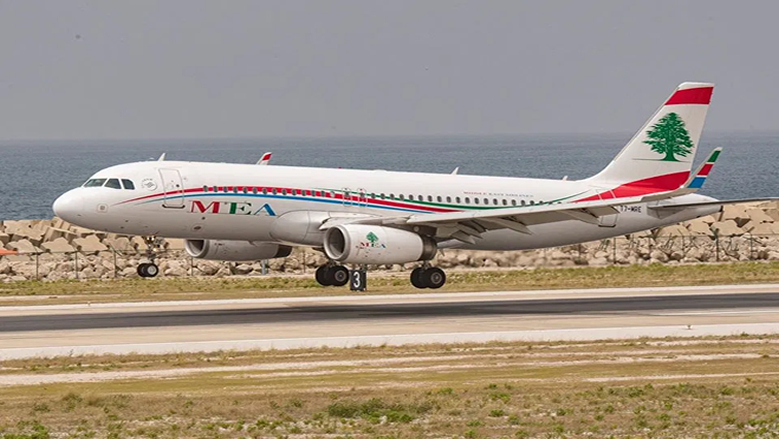 وصول طائرة الميدل ايست من تركيا وعلى متنها 124 راكبا معظمهم من العائلات