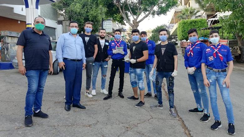 """""""التقدمي"""" يوزع الكمامات في قرى حاصبيا"""