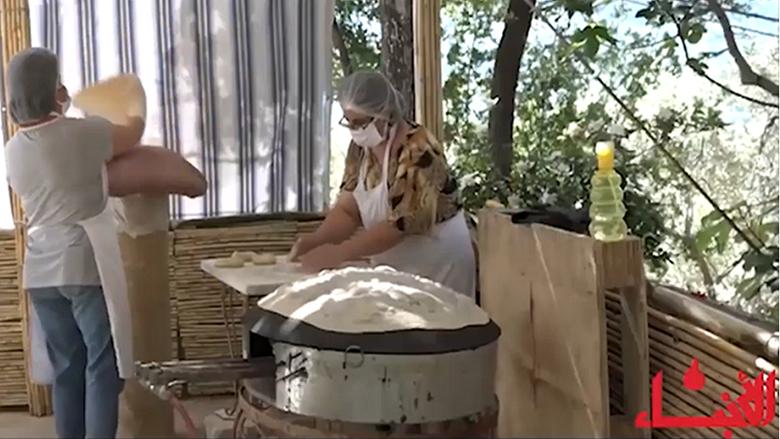 """تأمين خبز الصاج في غرب عاليه بمبادرة من """"النسائي التقدمي"""""""