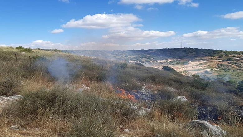 حريق في كروم الشراقي بميس الجبل وانفجار الغام بفعل الحرارة