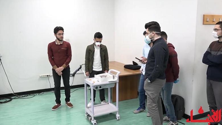 """طلاب """"اللبنانية"""" يقدمون """"روبوت"""" لمستشفى الحريري لخدمة مصابي كورونا"""