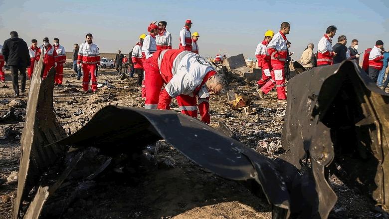 ايران توافق على ارسال الصندوقين الأسودين للطائرة الأوكرانية إلى باريس