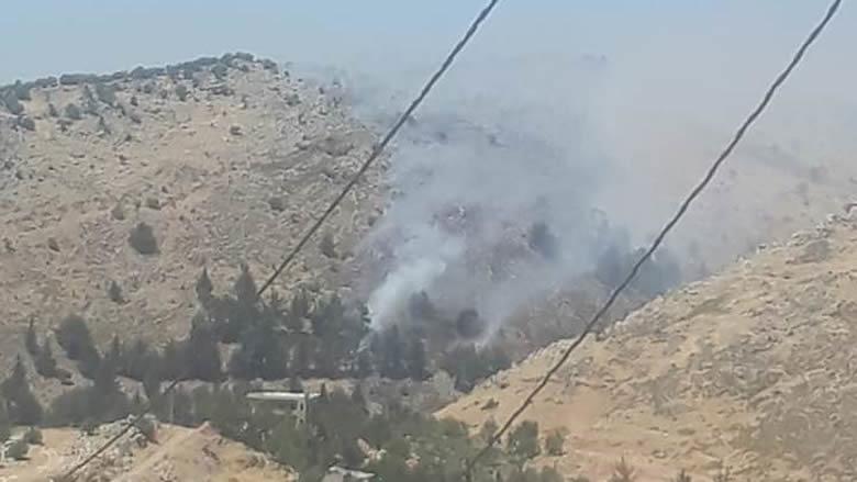 نشوب حريق كبير بين بلدتي ضهر الأحمر وكفرقوق في قضاء راشيا ومناشدات للمساعدة في اخماده