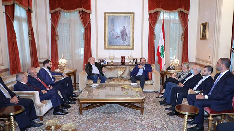 جنبلاط التقى الحريري في بيت الوسط: جئنا نتضامن مع الاعتدال وسنجتاز الصعاب ولن نفقد الأمل