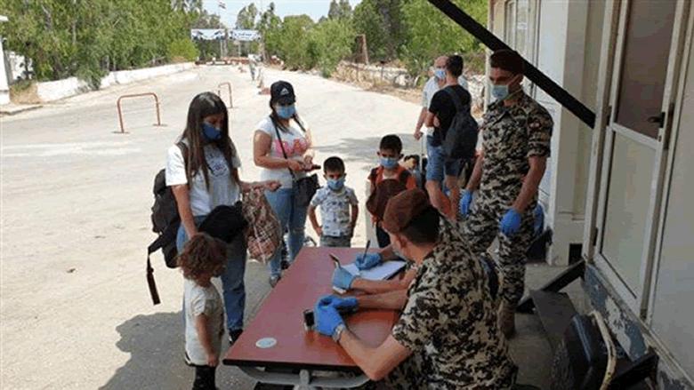 إتمام المرحلة الخامسة من دخول اللبنانيين براً من سوريا عبر نقطة العبودية