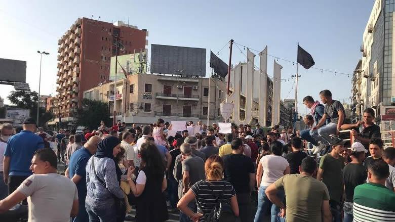 وقفة إحتجاجية في ساحة النور في طرابلس