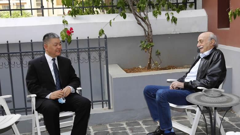 جنبلاط عرض مع سفير الصين التطورات