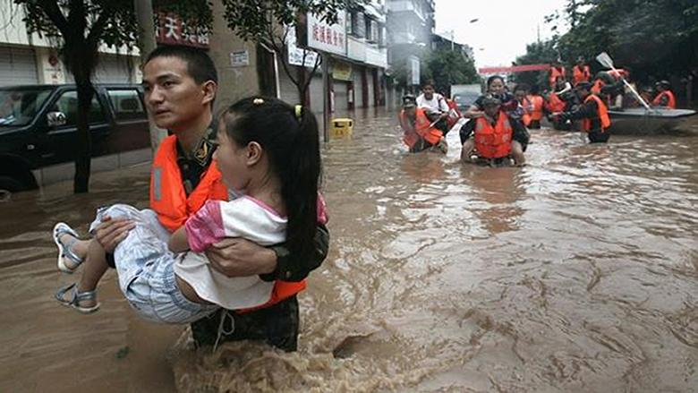 12 شخص قضوا ضحية الأمطار الغزيرة في جنوب الصين