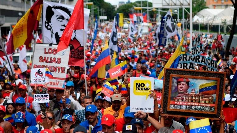 وزير خارجية فنزويلا يكشف مكان زعيم المعارضة غوايدو