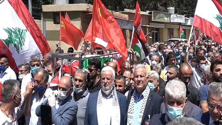 محسن ابراهيم إلى مثواه الأخير... جنبلاط وشخصيات لبنانية وفلسطينية شاركوا في التشييع