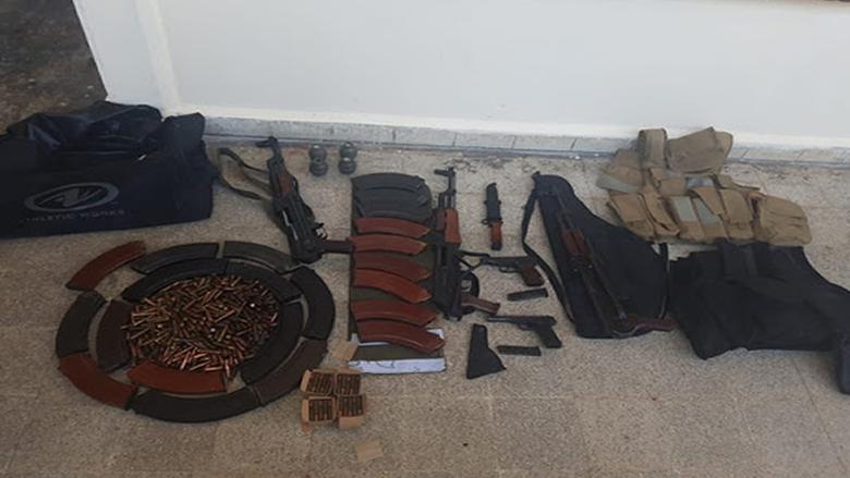 الجيش: توقيف أشخاص وضبط أسلحة في طرابلس