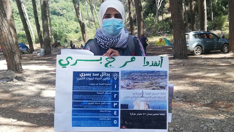 """الناشطون يواصلون اعتصامهم الرافض لسد بسري... و""""الأنباء"""" تواكب اليوم الأخير من مهلة البنك الدولي"""
