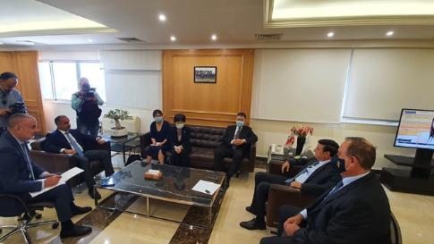اجتماع في وزارة الاشغال جمع نجار وحب الله بالسفير الصيني