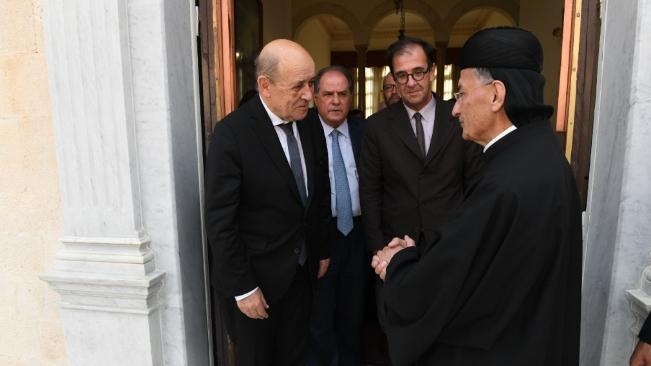 بيان بكركي: لودريان عبر عن تقديره لمبادرة الراعي واكد ان لبنان يملك كل المقومات للنهوض من جديد
