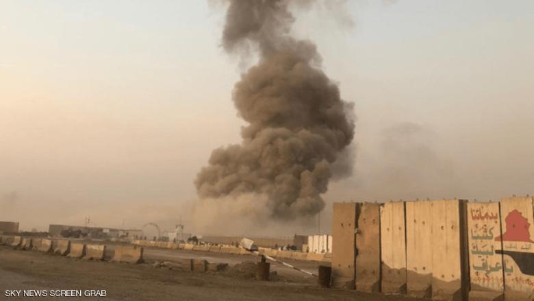 بالصورة: إنفجاران بضواحي بغداد الجنوبية في العراق