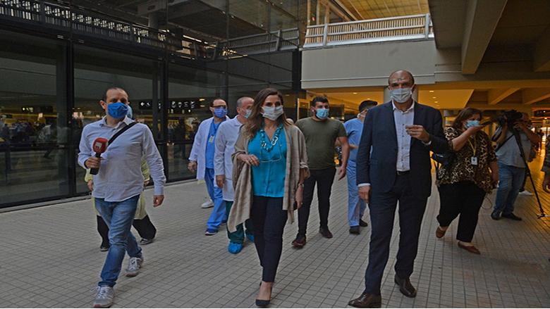 وزيرا الصحة والإعلام تفقدا الاجراءات المتخذة لضمان العودة الآمنة للمسافرين في مطار بيروت