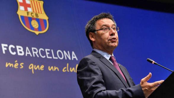 رئيس برشلونة يهاجم ريال مدريد.. ويحسم مستقبل ميسي