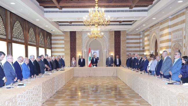 الحريري ترأس إجتماع لكتلة المستقبل وإلتقى نجم وعربيد
