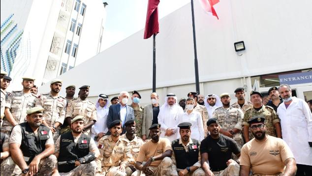 سفارة قطر دشنت المستشفى الميداني الثاني في الجعيتاوي