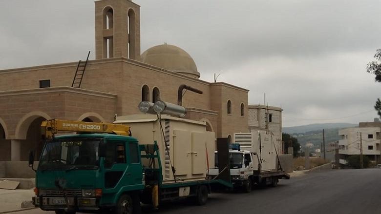 بلدة عبيه - عين درافيل تشكر جنبلاط على تقديمه مولدَّي كهرباء