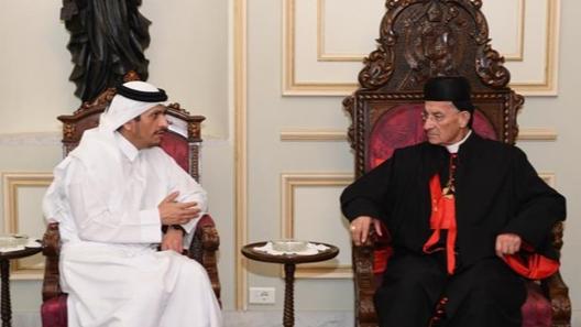 """الراعي سلّم وزير خارجيّة قطر نسخة عن مذكرة """"لبنان والحياد الناشط"""""""